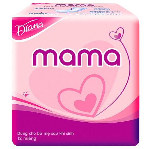 Băng vệ sinh cho mẹ Diana Mama (Gói 12 Miếng)