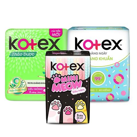 Băng vệ sinh hãng Kotex