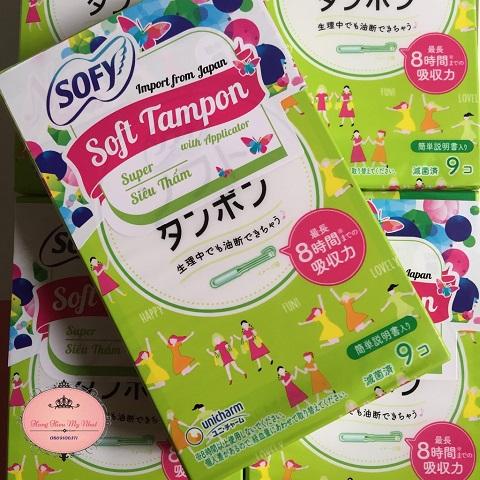 Băng vệ sinh Sofy Soft Tampon Super gói 9 miếng