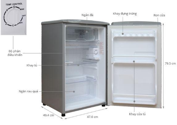 Cấu tạo tủ lạnh mini như thế nào