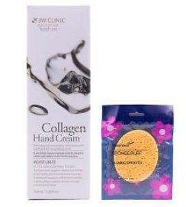 Kem dưỡng da tay Collagen Hàn Quốc cao cấp 3W Clinic Collagen Hand Cream