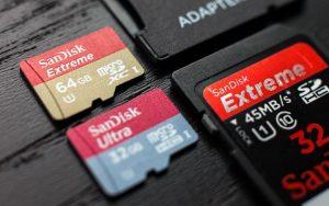 Kích thước thẻ nhớ phù hợp với từng thiết bị