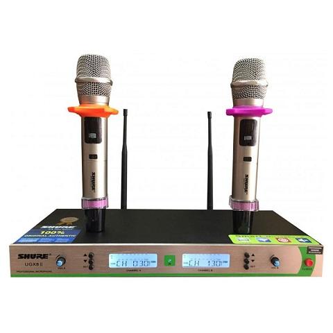 Micro không dây giá rẻ karaoke Shure UGX8 II