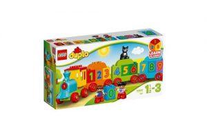 Mô hình Lego Duplo tàu lửa học số