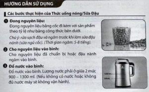 Một số lưu ý khi sử dụng máy làm sữa đậu nành
