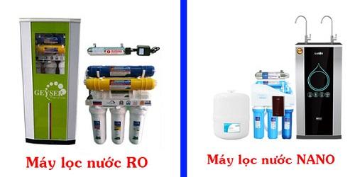 Nên mua máy lọc nước RO hay máy lọc nước Nano