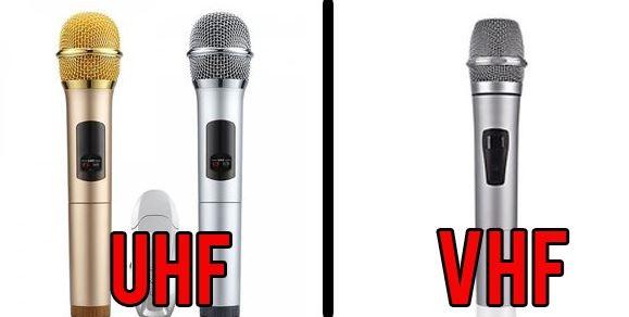 Nên mua micro không dây VHF hay UHF tốt hơn?