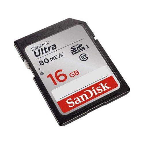 Thẻ nhớ SDHC SanDisk Ultra 533X Class 10 UHS-I 80MB/s - 16GB