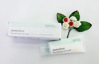 Kem chống nắng Innisfree The Minimum sun cream SPF25 PA++ for séitive skin cho da nhạy cảm