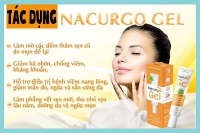 Nacurgo gel trị viêm nang lông