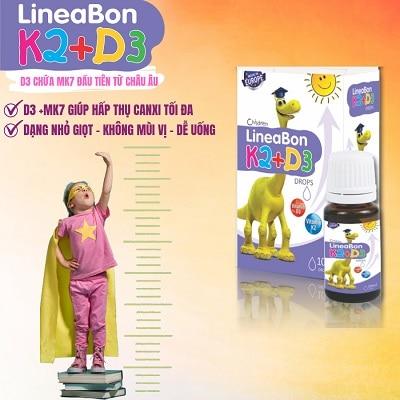 sản phẩm Lineabon Vitamin D3 + K2 Tăng Chiều Cao cho bé 3