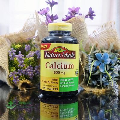 Thuốc bổ Nature made calcium 600mg