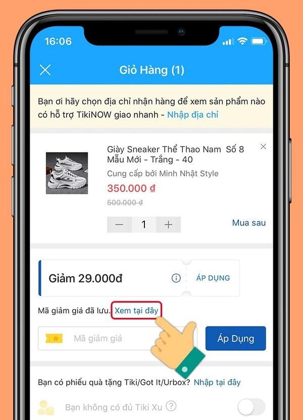 Cách mua hàng Tiki trên app điện thoại