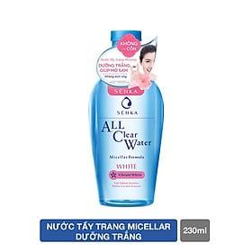 Nước tẩy trang dưỡng trắng Senka All Clear Water Micellar Formula White