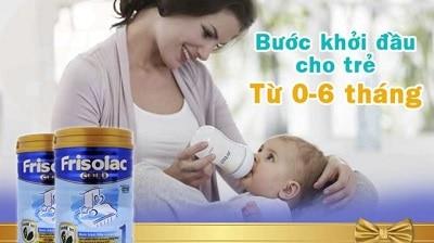 Dòng sữa cho trẻ từ 0 đến 6 tháng tuổi Friso Gold 1 hay Frisolac Gold 1