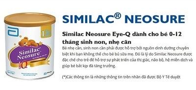 Sữa Similac Neosure IQ số 1