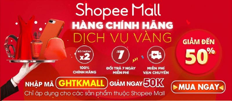 Ưu đãi hấp dẫn khi mua hàng tại Shopee Mall