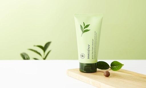 Sữa rửa mặt Innisfree cho da khô Green Tea Foam Cleanser