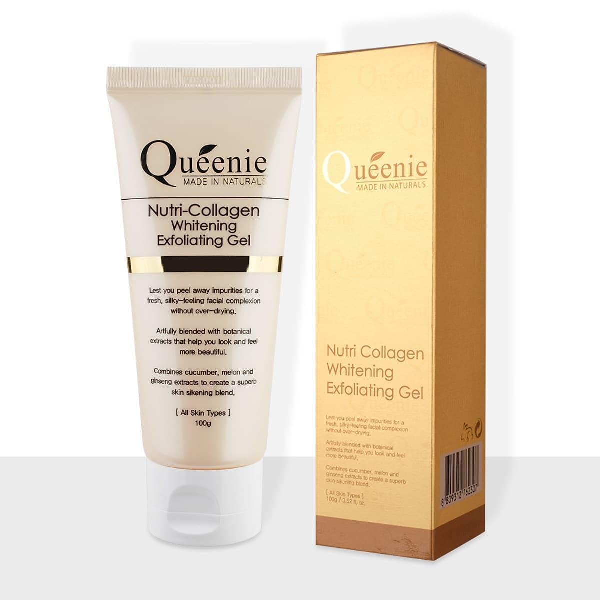 Gel tẩy tế bào chết trắng da, bổ sung collagen Queenie