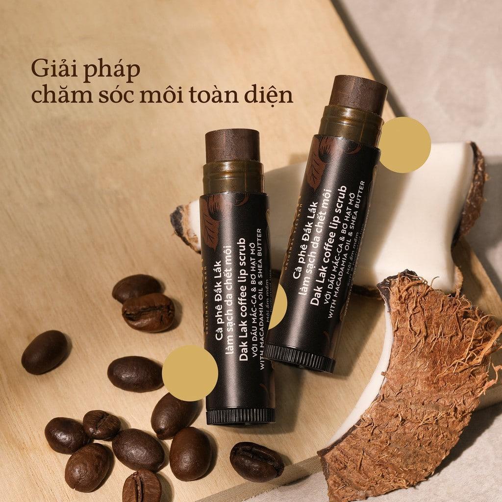 Tẩy da chết môi cà phê Đắk Lắk cocoon 5g