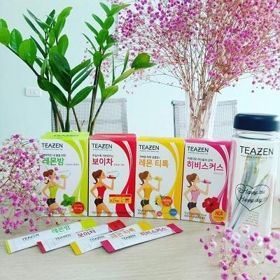 trà giảm cân 4 vị teazen hàn quốc