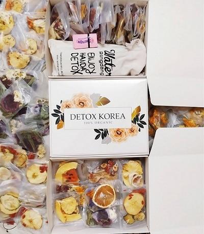 trà giảm cân detox korea hoa quả sấy khô