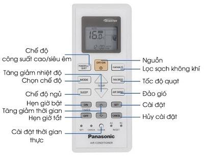điều khiển điều hòa Panasonic