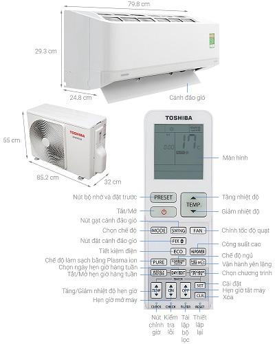 hướng dẫn sử dụng remote máy lạnh toshiba